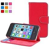 iPhone 4 Hülle, Snugg Apple iPhone 4 Handyhülle mit Kartenfach und Standfunktion - Rot, Legacy Range