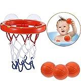 Sunshine D Badespielzeug Baby Bath Plantschespielzeug Mini Basketball Badewanne Schießspiel Spielzeug Set Basketballkorb mit 3 orange Balls für Baby Kinder Kleinkinder