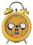 Adventure Time - Mini Reloj Despertador de Campana Doble, Color Amarillo
