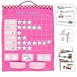 Fiesta Crafts W-0207P - Pizarra de tareas y recompensas, color rosa [texto en inglés]