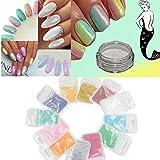 Sindy New Mermaid Effect Nail Glitter Polish Sparkly Magic Glimmer Powder Dust DIY Nail Art Tip Decoration Tools Gel UV Nails Art