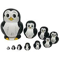 Souarts Set Nesting puppe Matroschka Pinguin Form Russische Puppe Geschenk