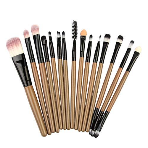 2019 Neue 15 Stücke Frauen Komfortable Make-up Pinsel Foundation Creme Lidschatten Eyeliner Lippen Pinsel Profi Werkzeug