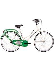 Bicicleta Magnum Mod Holanda 24& # x2033; Color crema/verde