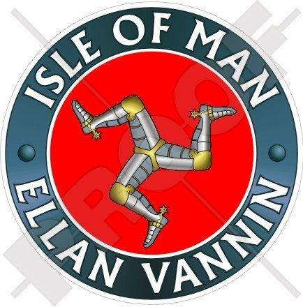 Île de Man ELLAN vannin TT Racing UK 100 mm (10,2 cm) Bumper Sticker en vinyle, en