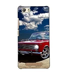 Fuson Designer Back Case Cover for Gionee Marathon M5 lite (A car standing in the garage)