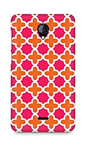 Amez designer printed 3d premium high quality back case cover forMicromax Unite 2 A106 (crosses pattern)