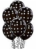 #8: HKBalloons Polka Dot Birthday Party Balloons Multi Color (Pack Of 25) (black)