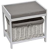 2 en 1 tabouret pouf meuble de salle de bain large esprit charme - Tabouret Salle De Bain