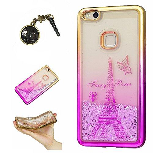 Preisvergleich Produktbild Laoke für Huawei P10 Lite Hülle Schutzhülle Handy TPU Silikon Hülle Case Cover Durchsichtig Gel Tasche Bumper ( + Stöpsel Staubschutz) (6)