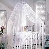 TININNA Mosquito Net Zanzariera Bianca per Letto Matrimoniale baldacchino colore bianco , niente più insetti e zanzare per il sonno del vostro bambino(bianco)