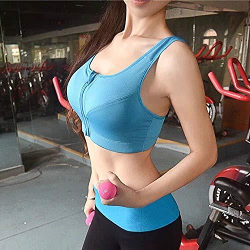 WSJIABIN Front Zipper Sports Bra Without Rims Gather Yoga Fitness Shockproof Running Seamless Underwear