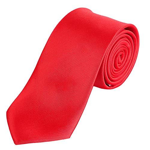 te 7 cm klassische handgefertigte Business Krawatte Rot für Büro oder festliche Veranstaltungen ()