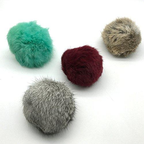 EEvER Ever Interaktives Katzenspielzeug Geschenk künstliche Kaninchen Haarball Sound Spielzeug mit Glöckchen Ball Haustier Katze Spielspielzeug für Katze Kratzen