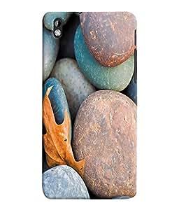 Fuson 3D Printed Coloured Stones Designer Back Case Cover for HTC Desire 816 - D1040