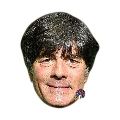 Celebrity Cutouts Joachim Löw (Smiling) Maske aus Pappe
