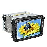 KKmoon Lecteur DVD de voiture/auto radio/Board Ordinateur/Unité principale/GPS/Bluetooth stéréo, unité multimédias, 20,3cm (8pouces) écran tactile numérique HD avec cartes + carte mémoire