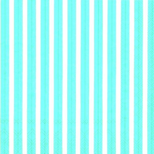 Preisvergleich Produktbild , blau-weiße Streifen, Papier, Servietten, 3-lagig, 33 x 33 cm, 20 Stück