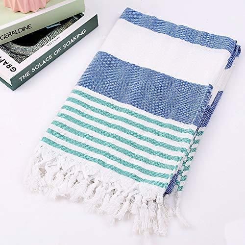 QZXCD Strandtuch aus Baumwolle mit Fransen Strandtuch aus Baumwolle Außenhandel Strandtuch aus Baumwolle Sonnenschutzmittel für den Strand 100x180CM AL - Frei Von Chemikalien Sonnenschutzmittel