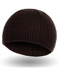 Klassische Beanie Winter-Mütze in Schwarz, Blau, Braun oder Marine