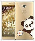 Coque Pour Sony Xperia XA2 5,2 pouces, Sunrive Silicone Étui Housse Protecteur souple TPU Gel transparent Back Case(tpu Panda 2)+ STYLET OFFERTS