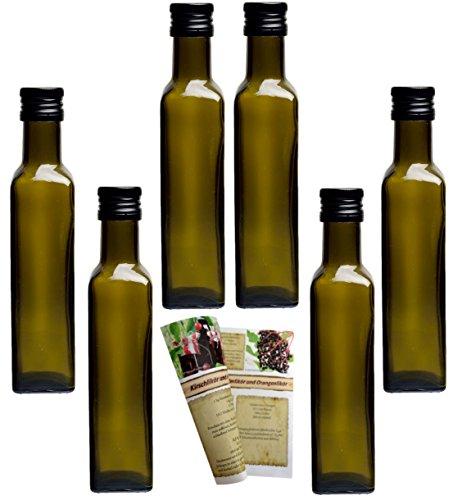 gouveo 24er Set leere 250 ml Maraska -Antik- Flaschen inkl. Schraubverschluss PP 31,5...