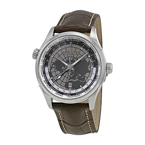 Hamilton Jazzmaster GMT Cuir montre pour homme H32605581