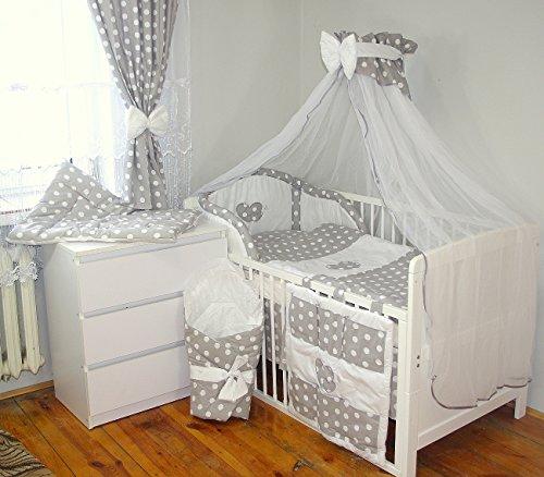 Baby's Comfort 10 tlg BABY BETTWÄSCHE BETTSET MIT STICKEREI (12 FARBEN) ( fürs BABYBETT 140/70 cm, 2)