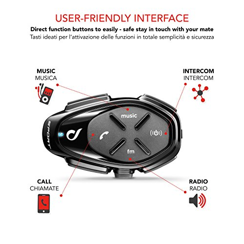 Zoom IMG-2 cellularline interphosporttp interfono sport bluetooth