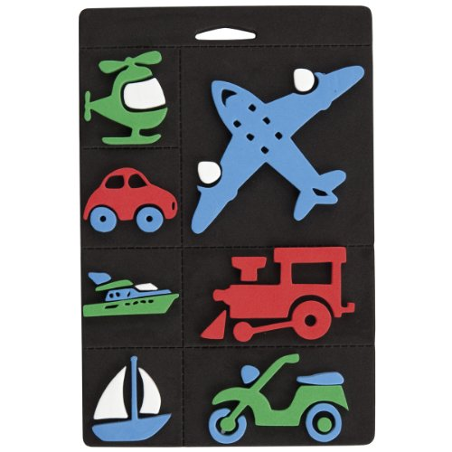 craft-planet-7-piece-foam-stamp-set-trains-planes-and-transport-multi-colour