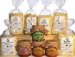 Idea Regalo - Confezione Gran Dispensa. Prodotti tipici italiani dalla regione Puglia. Pasta artigianale di semola di grano duro in vari formati. Sughi pronti e condimento alle cime di rapa