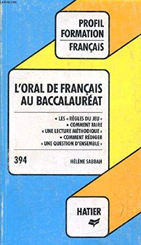 L' Oral de franais au baccalaurat
