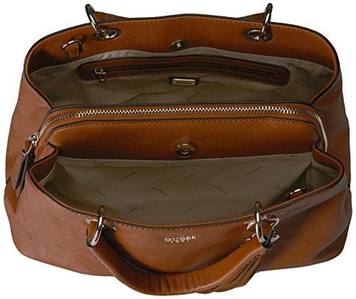 Guess Hwvg6681060, Borsa a Mano Donna, 7x25x33 cm (W x H x L) Marrone (Cognac)