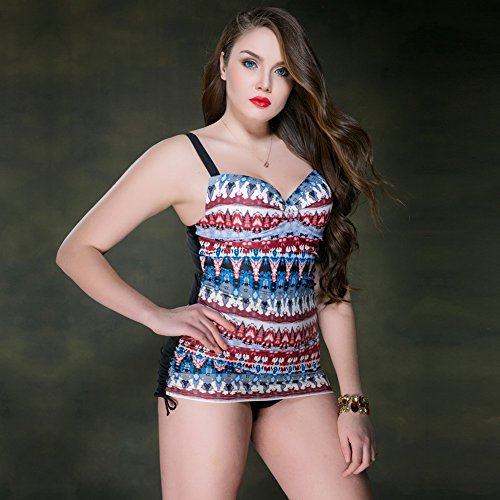 Mme summer maillot femme occidentale sa jupe large maillot de capture-YU&XIN Blue