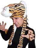 Seruna Tiger-Mütze, F74, One Size, Fasnachts-Kostüme Tier-Kostüm, Tiger-Faschingskostüm, für Fasching Karneval Fasnacht, Karnevals-Kostüme, Faschings-Kostüme, Geburtstags-Geschenk Erwachsene