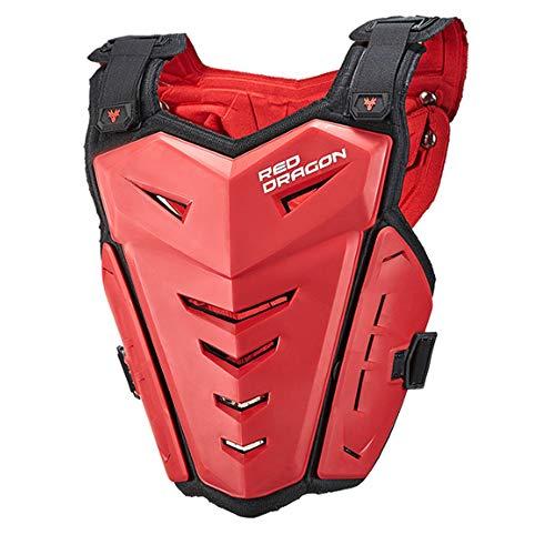 NCBH Motorrad-Schutzjacke, Motorrad-Rüstung Anti-Kollisions- und bruchsicherer Rückenschutz Protektorenweste Schutzausrüstung im Freien,Red -