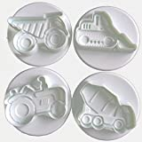 Konstruktion Trucks Cookie Ausstecher Biscuit Form Backen Kuchen Dekoration Topper – Set