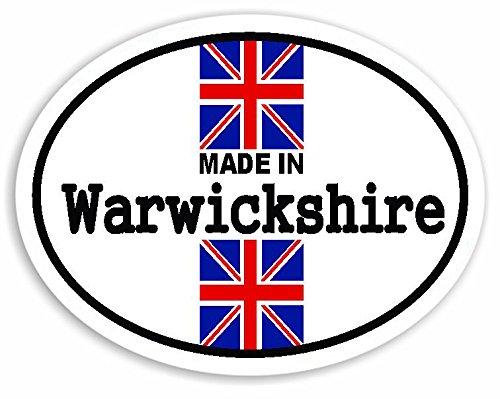 Preisvergleich Produktbild Made In Warwickshire - Union Jack British Flag Auto Aufkleber / Sticker For Car Bike Van Camper Decal Bumper Sign