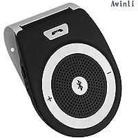Wireless Bluetooth Car Kit 4.1 Altavoz Para Automóviles De Coches de Sun Visor Manos Libres Simultáneo Para Soporte De 2 Teléfonos Smartphone For iPhone7 / 6 / 6s más / Samsung