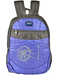 Friend Agencies Nylon 20 Liters Blue & Grey School Backpack