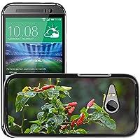 Carcasa Funda Prima Delgada SLIM Casa Case Bandera Cover Shell para // M00309906 Chili Bush Spezie Albero Flora Rosso // HTC One Mini 2 / M8 MINI / (Not Fits M8)