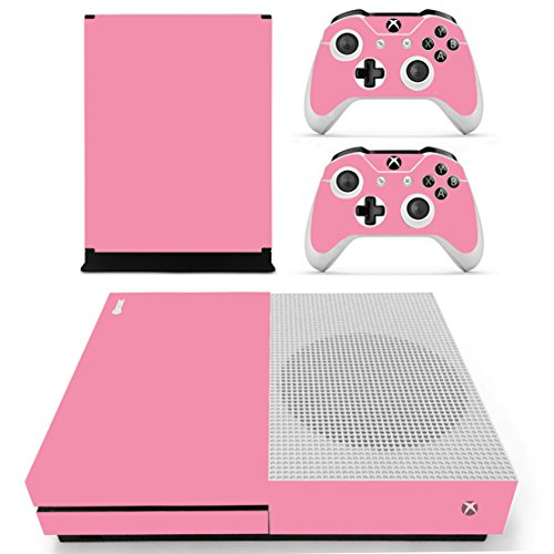 DOTBUY Xbox One S Vinly Protective Skin Sticker Konsole + 2 Controller Decal + Kamera Kinect 2.0 Sticker Pink (All Pink)