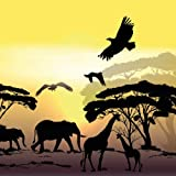 20 Servietten Steppe Afrika Savanne Safari Tiere 33 x 33cm