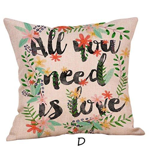 Kxnet, federe per cuscini per san valentino con scritta in inglese a tema, per cuscini decorativi, federa morbida, d, 40cm*40cm