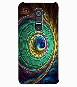 ColourCraft Beautiful Peacock Feather Design Back Case Cover for LG G2