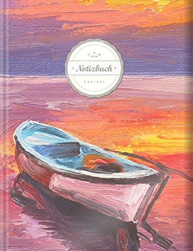 """Kariertes Notizbuch (©Star, A4, 156 Seiten, Softcover)    Mit Register + Doppelrand    Dickes Notizbuch, Fester Einband, Kariert Nr. 26, Matheheft, Skizzenbuch, Zeichenbuch, Tagebuch, """"Sehnsucht"""""""