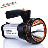 ROMER LED Rechargeable Handheld Searchlight High-power Super Bright 9000 MA 6000 LUMENS CREE Tactical Spotlight Torch Lantern Flashlight (argento)