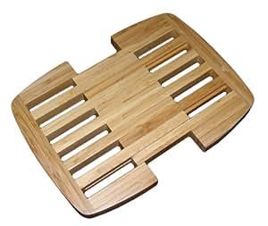 Totally Bamboo BA206628 Dessous de Table Rétractable en Bambou 23 x 23 cm