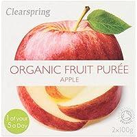 Clearspring Orgánica puré de manzana 2 x 100 g
