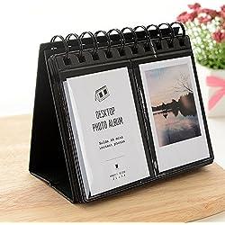 Jun photo Album photo Support Calendrier de bureau pour appareil photo instantané Fujifilm Instax Polaroid 7,6cm 68pièces